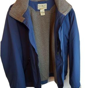 ll bean mens jacket Large regular nylon OUF43 ligh